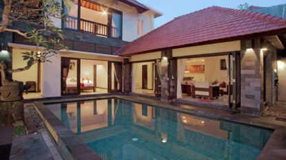 Comfortable 3 bedroom villa in tranquil area of North Seminyak