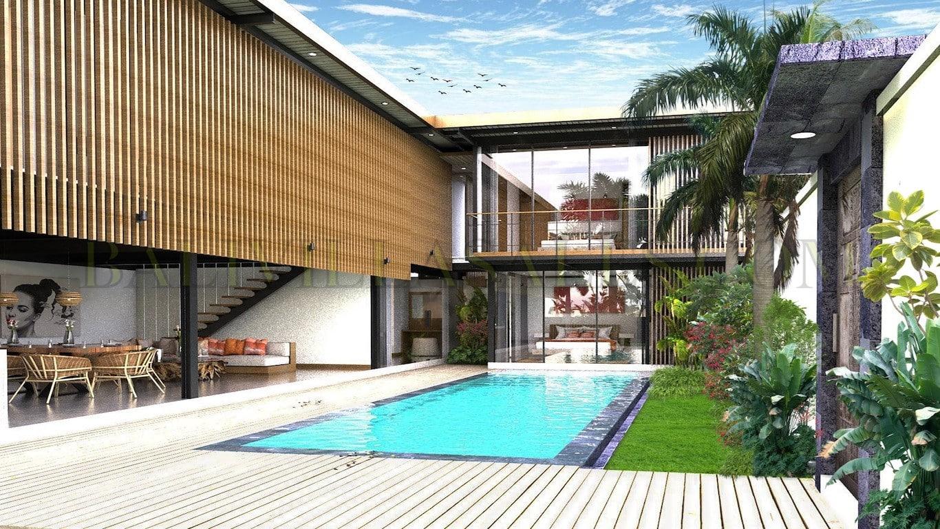 Vila 4 kamar tidur Investasi yang optimal di Canggu