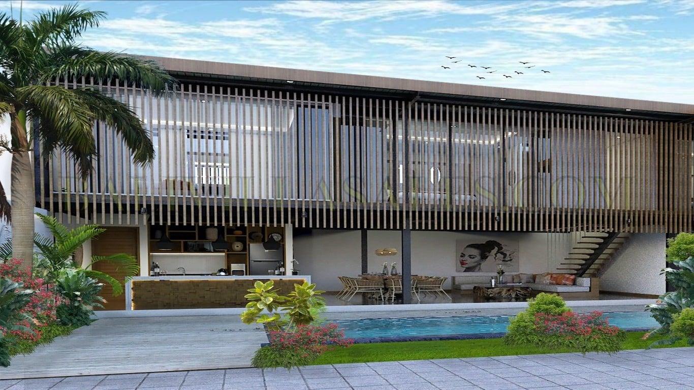 Proyek vila 2 kamar di sisi pantai Berawa