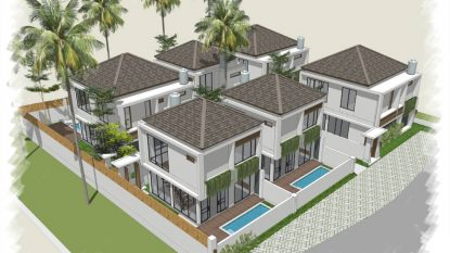 OFF PLAN — 3 bedroom villa in Canggu