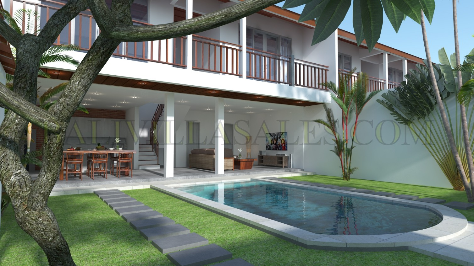 Fully managed two-bedroom private villa