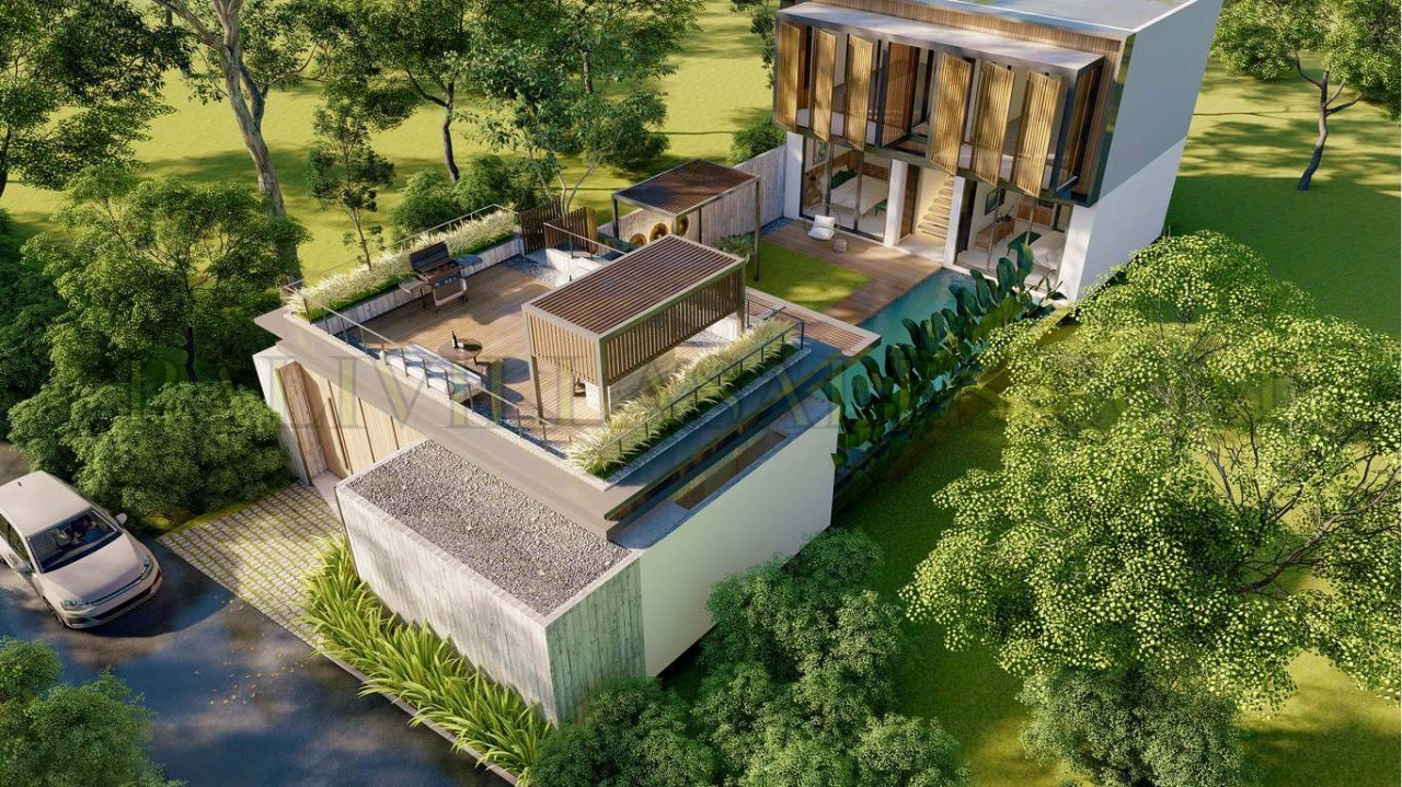 Off-plan modern 4 bedroom villa walking distance Berawa beach