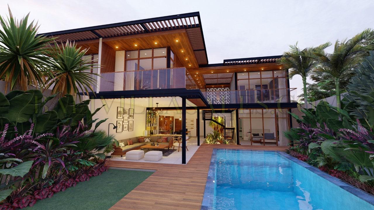 Villa 4 kamar tidur dengan kualitas terbaik dibangun dengan desain yang menakjubkan!