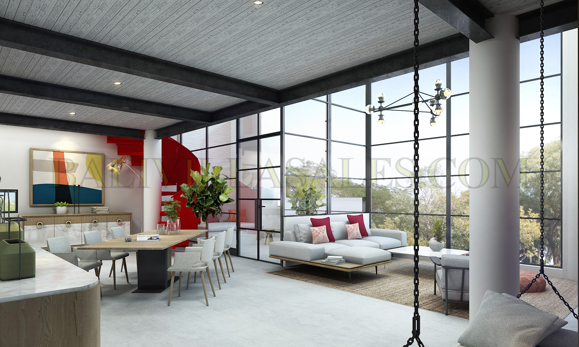 2 Bedrooms Mezzanine Apartment with a striking modern design